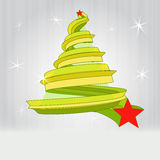 Gold christmas tree design with glitter Royalty Free Stock Photos