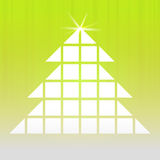 Gold christmas tree grid with shiny star Stock Photos