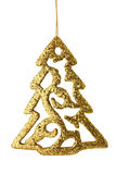 Gold Christmas Tree Isolated Royalty Free Stock Images