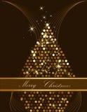 Gold Christmas tree. Made of circles royalty free illustration
