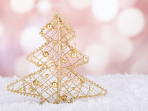 Gold Christmas Tree Ornament Royalty Free Stock Photos
