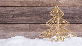 Gold Christmas Tree Ornament Stock Image