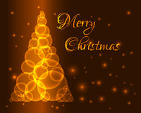 Gold christmas tree Royalty Free Stock Image
