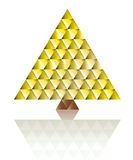 Gold christmas tree triangle grid concept vector Royalty Free Stock Photo