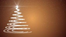 Gold Christmas tree xmas holiday celebration winter snow animation background. Xmas merry christmas tree holiday celebration winter snow animation background stock illustration