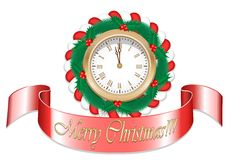 Gold Christmas Watch Stock Images