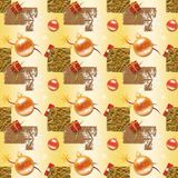 Gold Christmas Wrapping paper Royalty Free Stock Images