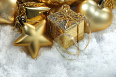 Gold christmass decoration Stock Image