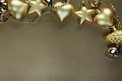Gold christmass decoration Stock Photography