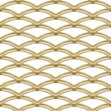 Gold chrome steel Grating seamless structure. Chainlink isolated on white background. Vector illustration. EPS 10 royalty free illustration
