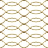 Gold chrome steel Grating seamless structure. Wave shape. Chainlink isolated on white background. Vector illustration. EPS 10 Stock Photography