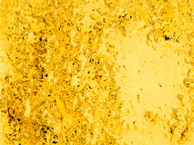 Gold chromium liquid background, circle bubble particle backdrop Royalty Free Stock Image