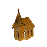 Gold Church. This is the cropped image of gold church Christmas decoration Royalty Free Stock Photo