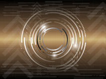 Gold circle abstract background. EPS 10 Vector Royalty Free Illustration