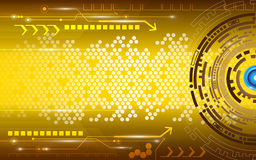 Gold circle abstract background Stock Image