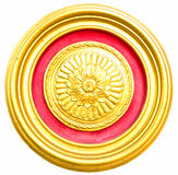 Gold Circle. Beautiful golden circles on a white background stock image