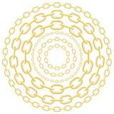 Gold circle chains Stock Image