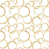Gold circle chaotic white 1 Stock Image