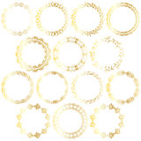Gold circle frames Royalty Free Stock Photos