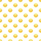 Gold circle metal badge pattern Royalty Free Stock Photos