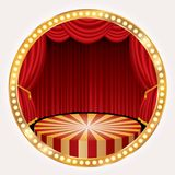 Gold circle stage Royalty Free Stock Photo
