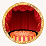 Gold circle stage round Stock Images