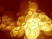 Gold circles. Royalty Free Stock Photos