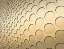 Gold circles. Gold shiny inverted circles soaring to the right royalty free illustration