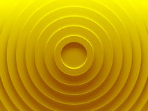 Gold circles. Abstract background. This pattern works for text backgrounds, web design, print or mobile application. 3D illustration Royalty Free Stock Photos