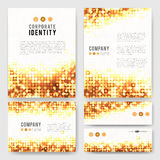 Gold circles identity-1 Stock Images