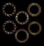 Gold circlets. An illustration of golden Chinese circlets or frames royalty free illustration