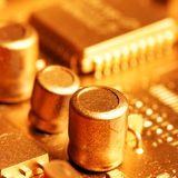 Gold circuit board Stock Photos
