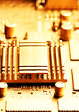 Gold circuit board Stock Photography