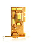 Gold circuit board Royalty Free Stock Photos