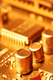 Gold circuit board Royalty Free Stock Image