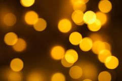 Gold circular bokeh background Royalty Free Stock Photos