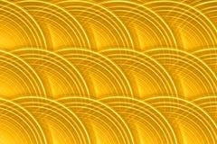 Gold Circular Disk Background. Background of multiple layered gold transparent disks Stock Images