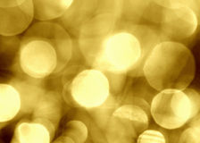 Gold circular reflections Royalty Free Stock Photography