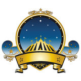 Gold circus stamp Royalty Free Stock Photo
