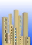 Gold city skyline Stock Photo