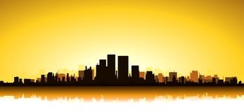 Gold Cityscape Royalty Free Stock Photography