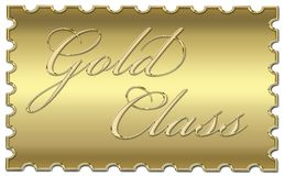 Gold class stamp Stock Image