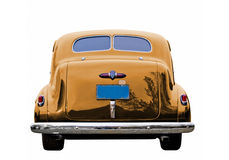Gold Classic Car Stock Image