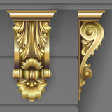 Gold Classic facade bracket Royalty Free Stock Images