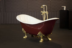 Gold Clawfoot Bath Tub Royalty Free Stock Photo