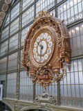 Gold Clock at the d`Orsay Museum Royalty Free Stock Images