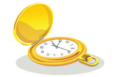 Gold clock Stock Photography
