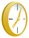 Gold Clock Royalty Free Stock Image