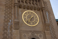 Gold clock on Sidi Bou Abib Mosque in Tangier Stock Photography