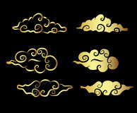 Gold Cloud tattoo Royalty Free Stock Photography